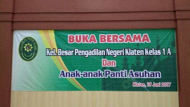 Buka Puasa Bersama Kel Besar Pengadilan Negeri Klaten Anak Panti Asuhan